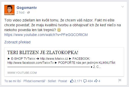 Reakce Gogomantv