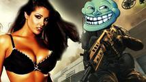 Sexy holka trolí hráče Call of Duty