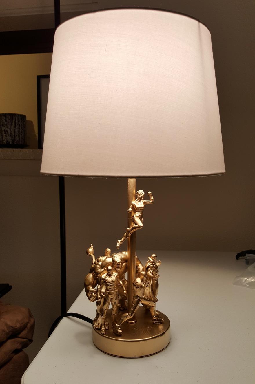 Superheroes lamp