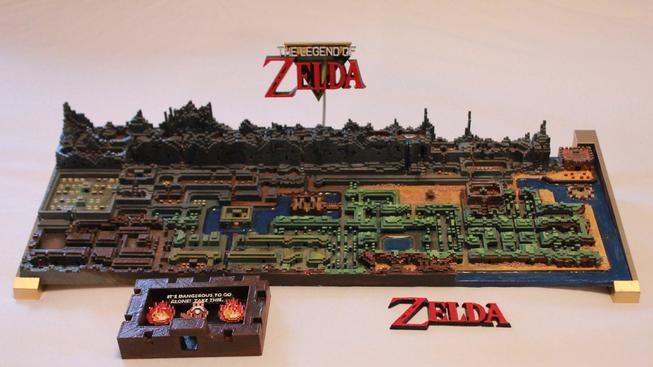 Originální mapa pro The Legend of Zelda vytištěná na 3D tiskárně vypadá úchvatně