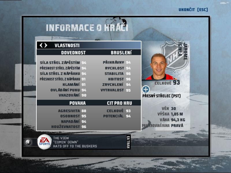 NHL 08 - PC recenze cesk� verze - Games.cz