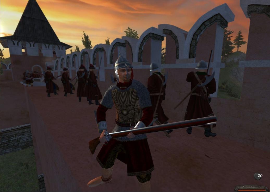Сриншоты из игры Mount & Blade: Огнём и мечом.