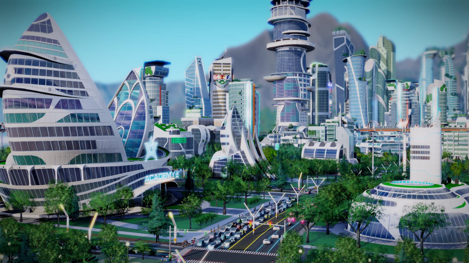 Výsledek obrázku pro simcity 5 města budoucnosti