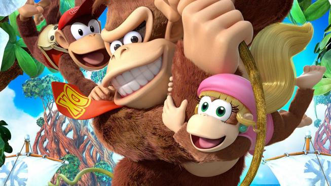 donkey kong country tropical freeze characters swinging