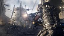 Záběry z hraní Call of Duty: Advanced Warfare ukazují moderní zbraně a prostředí plné grafických efektů