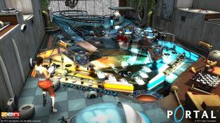 Portal Pinball v sobě spojuje přesně to, co byste dle názvu čekali