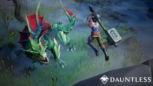 V akčním RPG Dauntless půjdete ve čtyřčlenném týmu lovit překrásné nepřátele a létat na obrovském kladivu