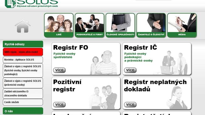 Registr dlužníků SOLUS