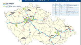 Zpoplatněné dálnice v ČR v roce 2017