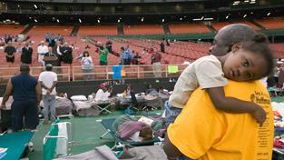 Astrodome po hurikánu Katrina