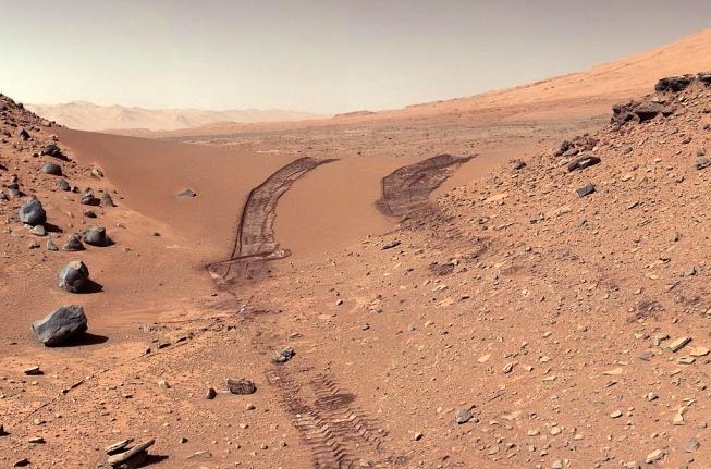 Stopy na Marsu