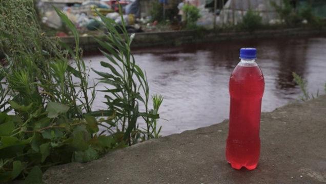 Vzorek ze znečištěné řeky