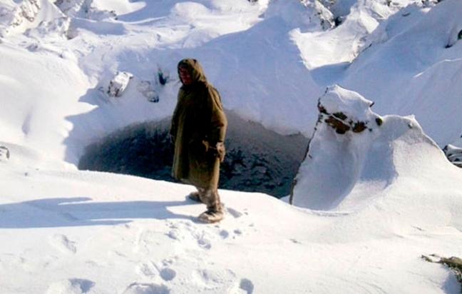 Závrt v sibiřském permafrostu