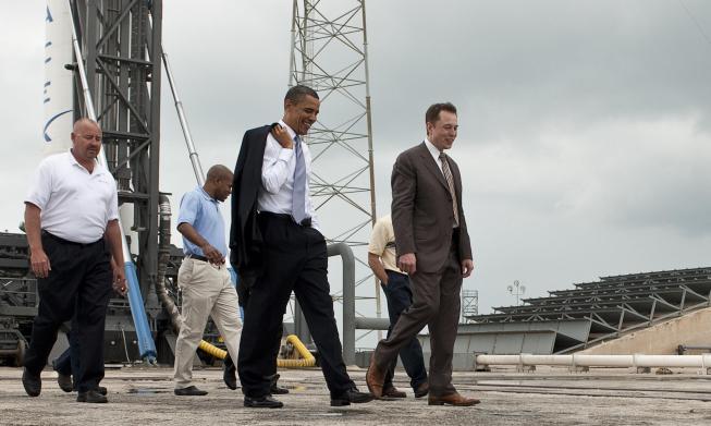 Elon Musk s Barackem Obamou