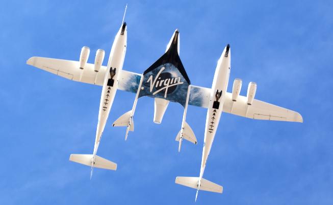 SpaceShipTwo v závěsu pod WhiteKnightTwo
