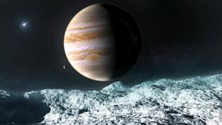 Podívaná bude z povrchu Europy jistě impozantní, nás ale zajímá, co měsíc ukrývá pod ním