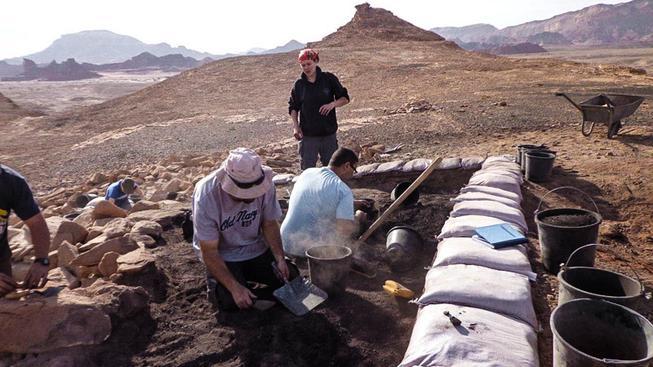 vykopávky v údolí Timna