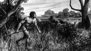 Takto si Piltdownského muže představil britský kreslíř krátce po zveřejnění objevu