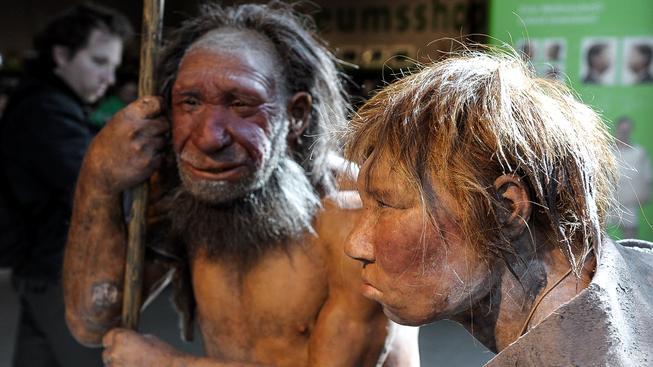Rekonstrukce Neandertálců. Ilustrační snímek