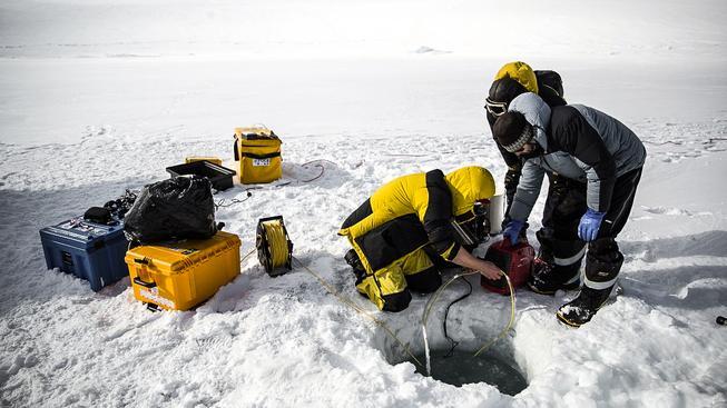 Australský tým u ledovcového vrtu