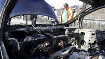 Na rakouské dálnici shořelo auto české rodiny