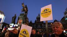 Na Václavském náměstí proběhl další protest Holešovské výzvy
