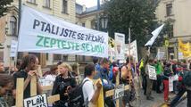 150 lidí dnes před vládou demonstrovalo proti Kubově těžařské politice