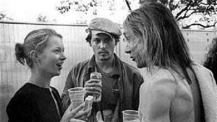Kate Moss, Johnny Depp a Iggy Pop