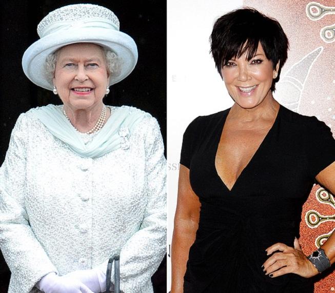 Královna Elizabeth II. a Kris Jenner Kardashian