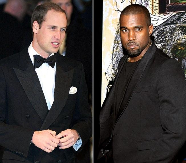 Princ William a Kanye West