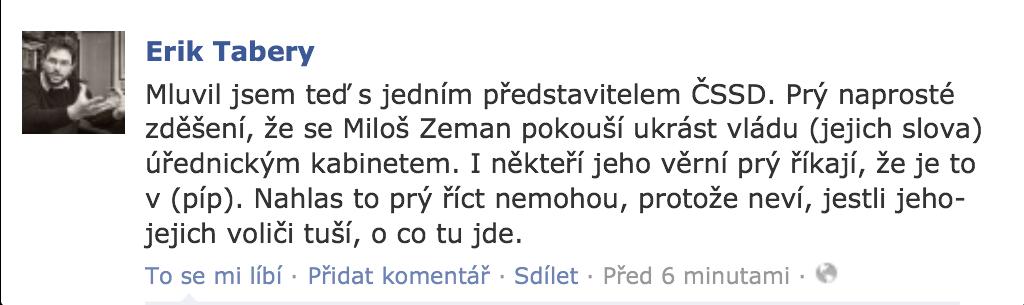 Status Erika Taberyho, 23.6.2013