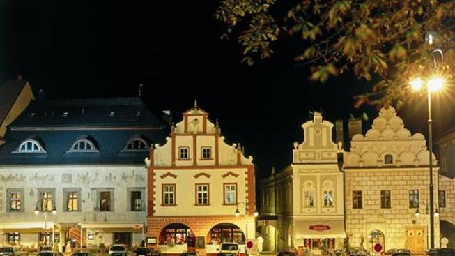 Měšťanské domy na Žižkově náměstí
