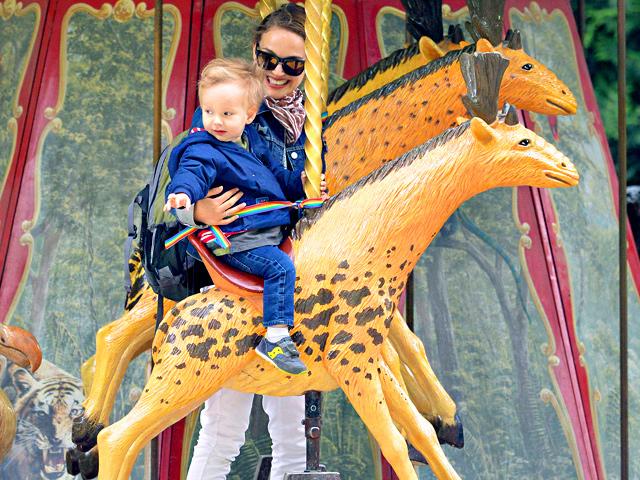 Natalie Portman se synem Alephem
