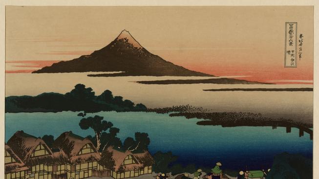 Grafika z cyklu Třicet šest pohledů na horu Fuji