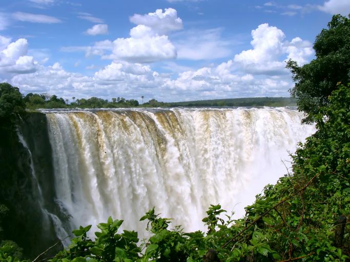 Viktoriiny vodopády, Afrika