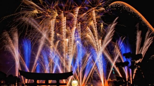 Novoroční ohňostroj v Japonsku