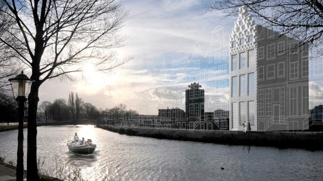 Tisknutý dům v Amsterdamu