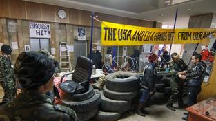 Proruští separatisté v ukrajinském Doněcku