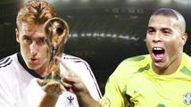 Klose se dotáhl na legendárního Ronalda. Kdo je v TOP 10 střelců historie MS?