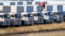 První ruské humanitární kamiony opouštějí ukrajinskou půdu