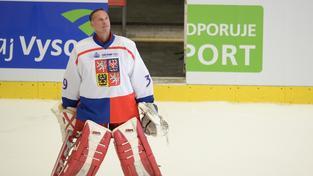 Dominik Hašek při Zlatém utkání v Jihlavě