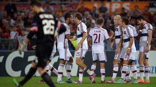 Hráči Bayernu nasázeli domácímu AS Řím sedm gólů
