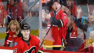 Jiří Hudler v dresu Calgary Flames