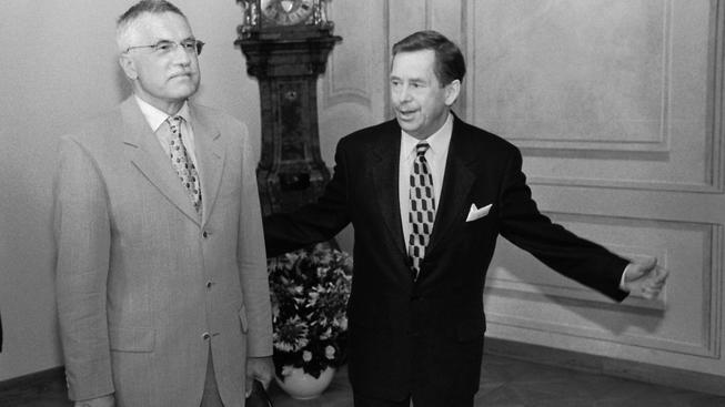 Václav Klaus a Václav Havel, archivní snímek