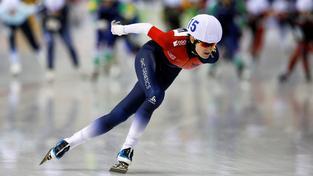 Martina Sáblíková při závodu Světového poháru