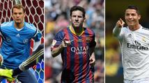 Ronaldo, Messi, Neuer. Kdo získá Zlatý míč?