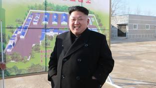 Kim Čong-un se směje