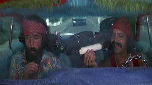 Záběr z legendárního snímku Cheech and Chong: Up in Smoke