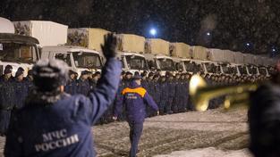 Poslední ruský humanitární konvoj měl dovézt potraviny i vánoční dárky