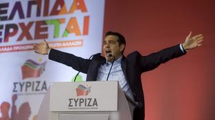 Strana SYRIZA předsedy Alexise Tsiprase je jasným favoritem